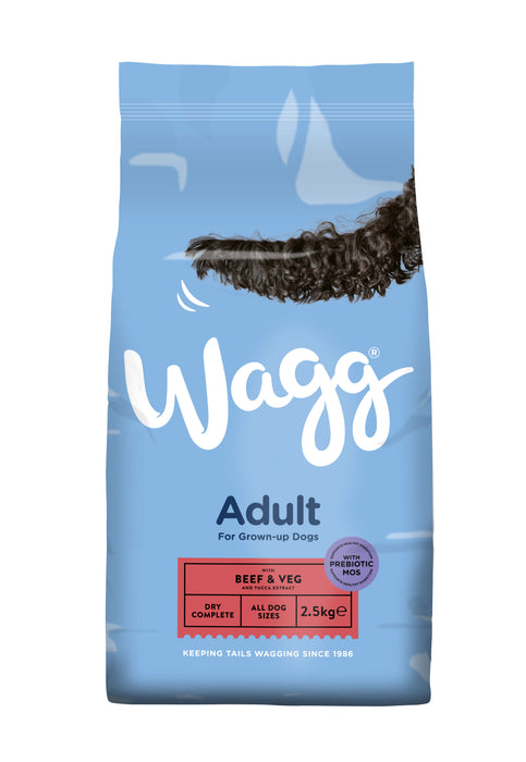 Wagg Complete Original Beef & Veg Dry Dog Food - 2.5kg