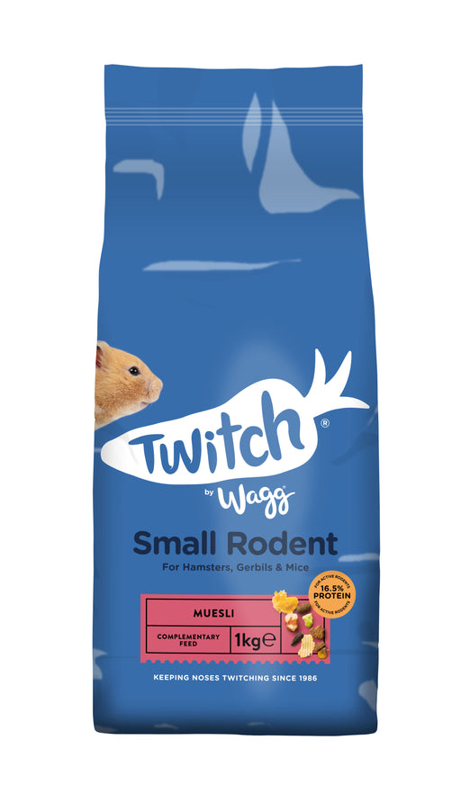 Wagg Twitch Hamster/ Gerbil & Mouse Munch Food - 1kg