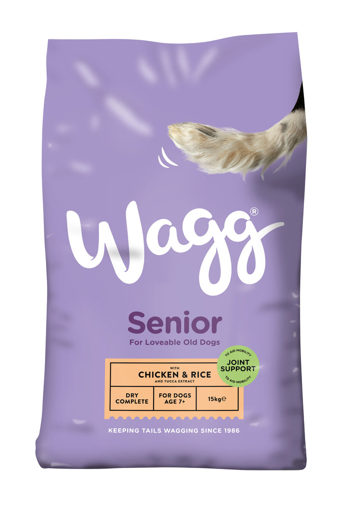 Wagg Senior Complete Dry Dog Food 15kg