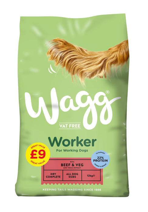Wagg Worker Beef Dry Dog Food 12kg