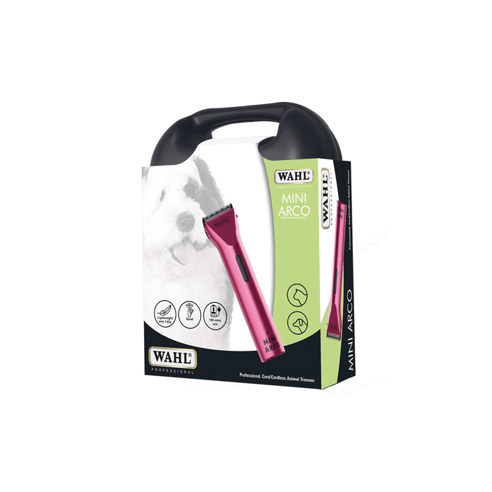 Wahl Pro Mini Arco Cord/Cordless Pink Animal Trimmer Kit