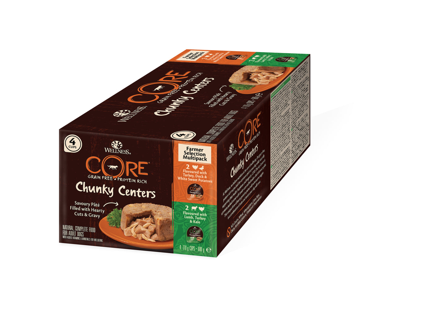 Wellness Core Chunky Centres Farmers Selection Multipack Wet Dog Food - 4 x 170g