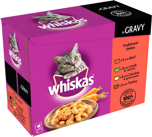 Whiskas Cat Pouches Traditional Selection 12 Pack - 100g