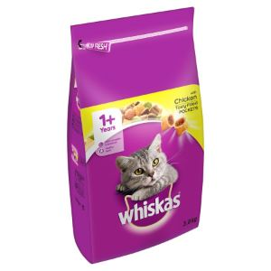 Whiskas Complete Chicken Dry Cat Food - 3.8kg