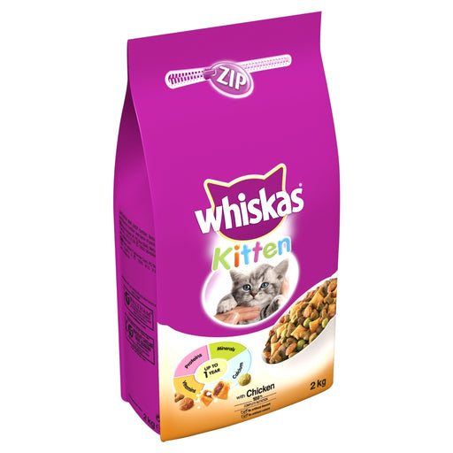 Whiskas Complete Dry Kitten & Junior Food - 2kg
