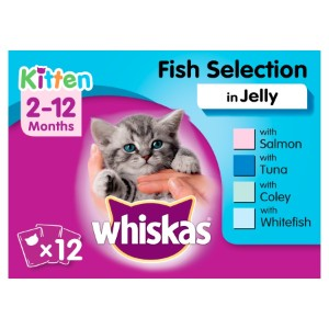 Whiskas Kitten Fish Selection in Jelly Cat Pouches - 12 x 100g
