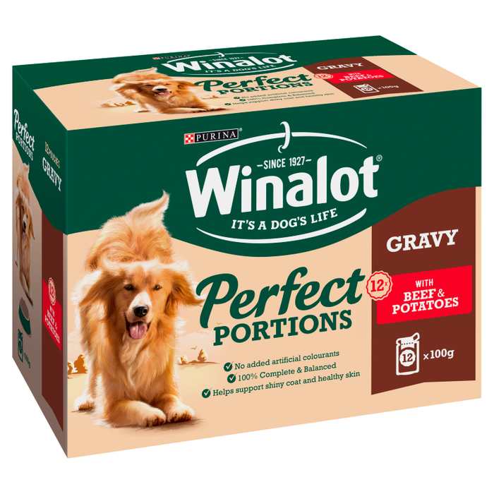 Winalot Perfect Portions Adult Beef & Potatoes in Gravy - 12x100g