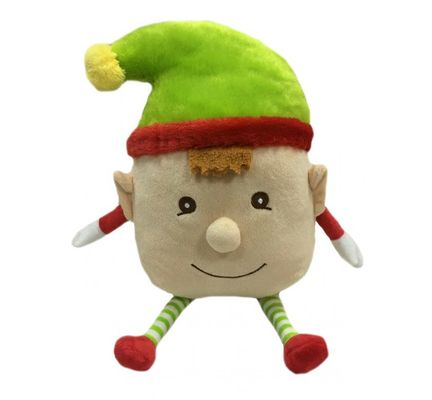 Animate Christmas Squeaky Elf Boy Dog Toy