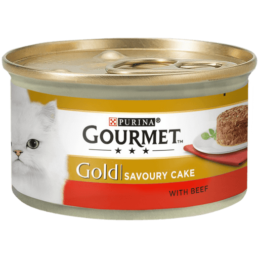 Gourmet Gold Savoury Cake with Beef Cat Food 12 x 85g