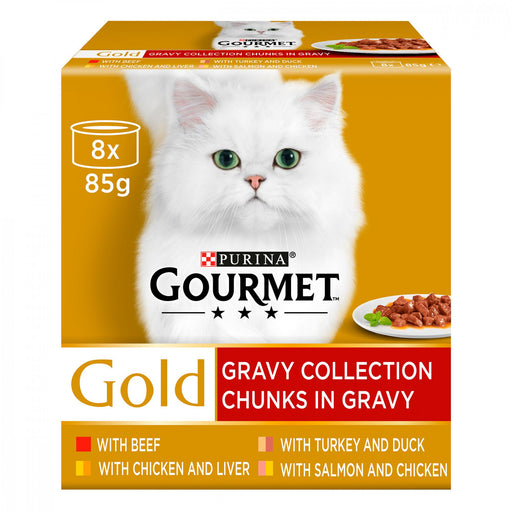 Gourmet Gold Chunks in Gravy Collection Cat Food 8 x 85g