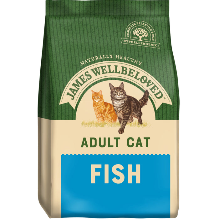 James Wellbeloved Fish & Rice Adult Dry Cat Food - 1.5kg