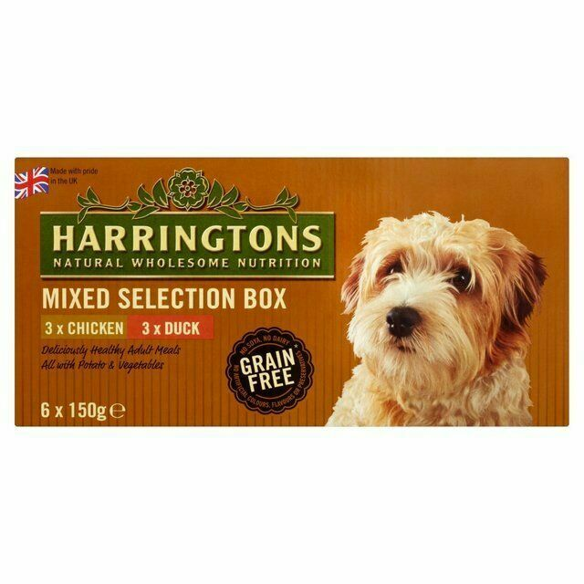 Harringtons Mixed Grain Free Dog Food Trays - 6 x 150g