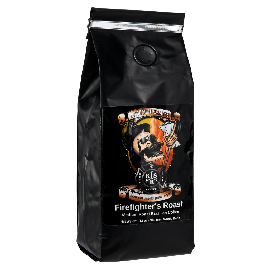 """Firefighter's Roast"" (Medium Brazilian Coffee) - Rough Shift Roasters"