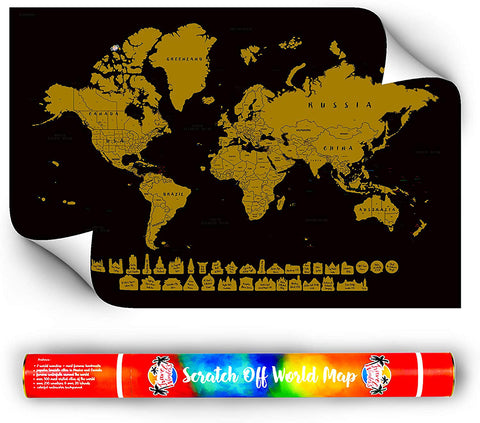 Watercolor Scratch Off World Map - 2020 Limited Edition