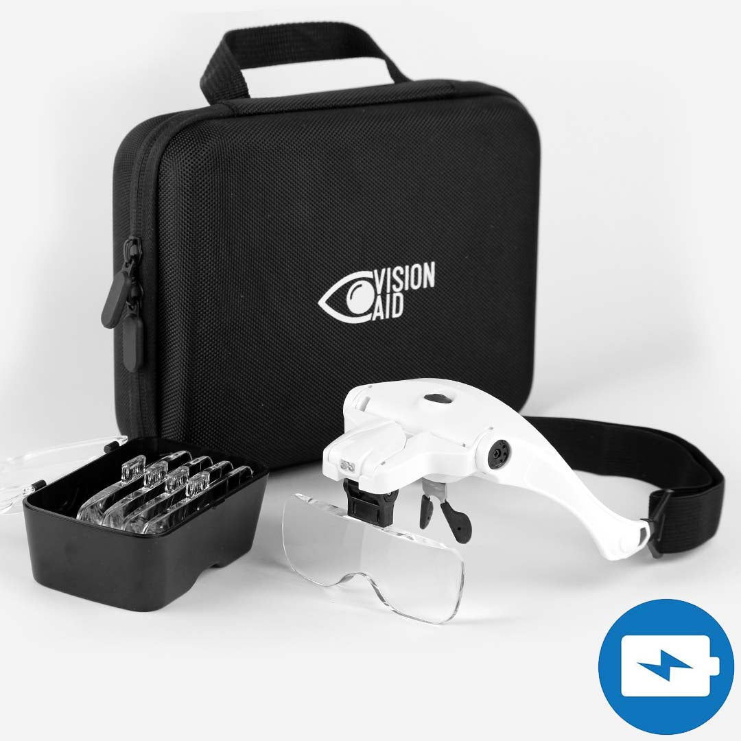VisionAid™ Magnifying Glasses with A Storage Case (USB Rechargeable) - Expert Set