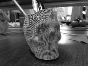 3D printed wire frame skull