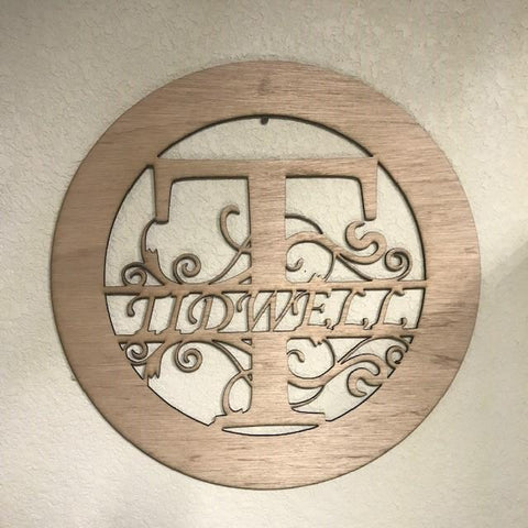 "Customized 20"" wood Monogram sign"
