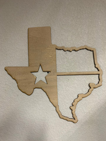 "20"" Texas flag sign"
