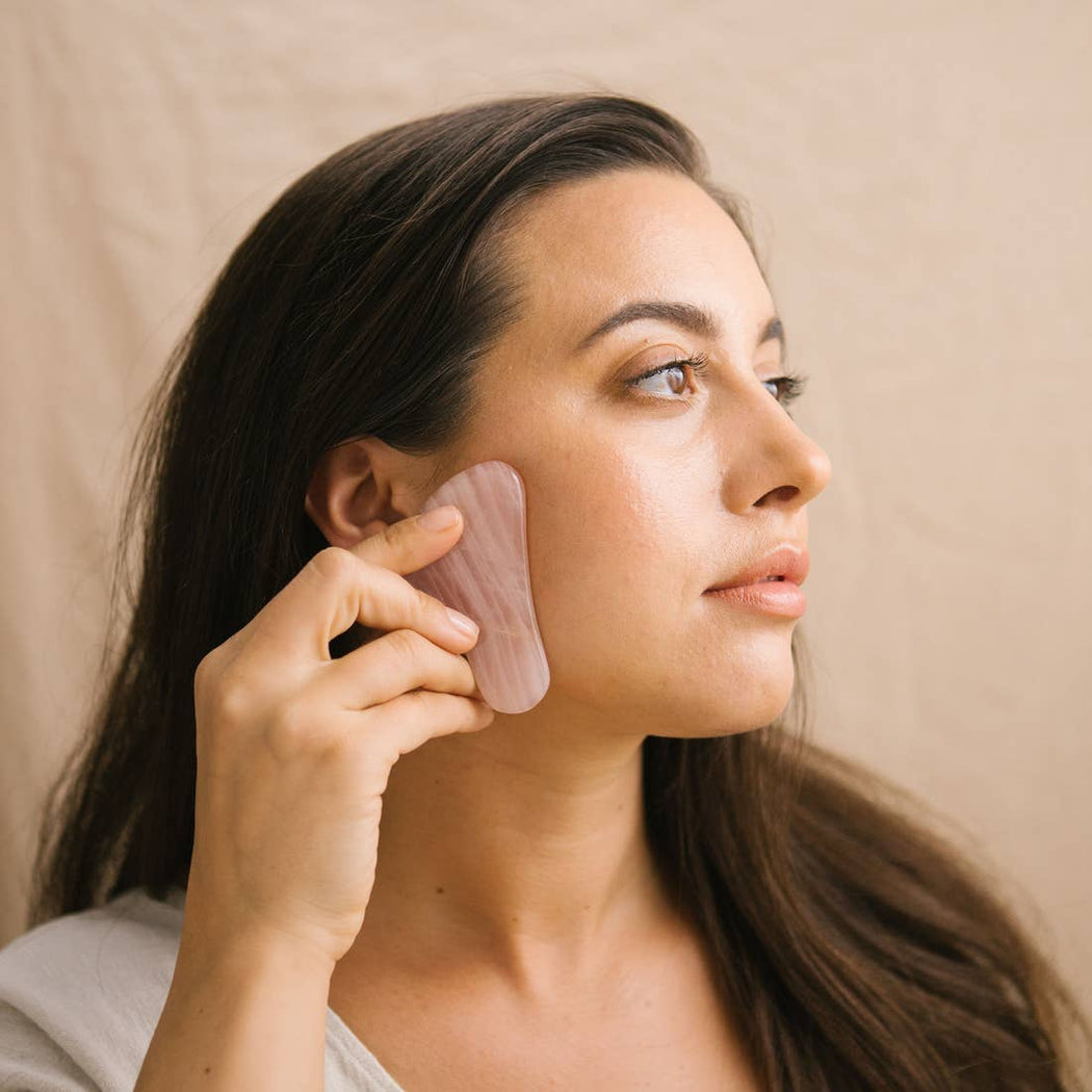 Rose Quartz Gua Sha Facial Tool