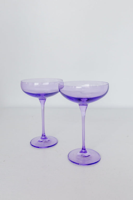 Coupe Glasses in Lavender