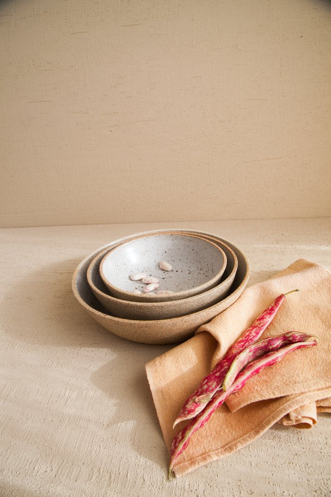 Nesting Serving Bowls in Dune