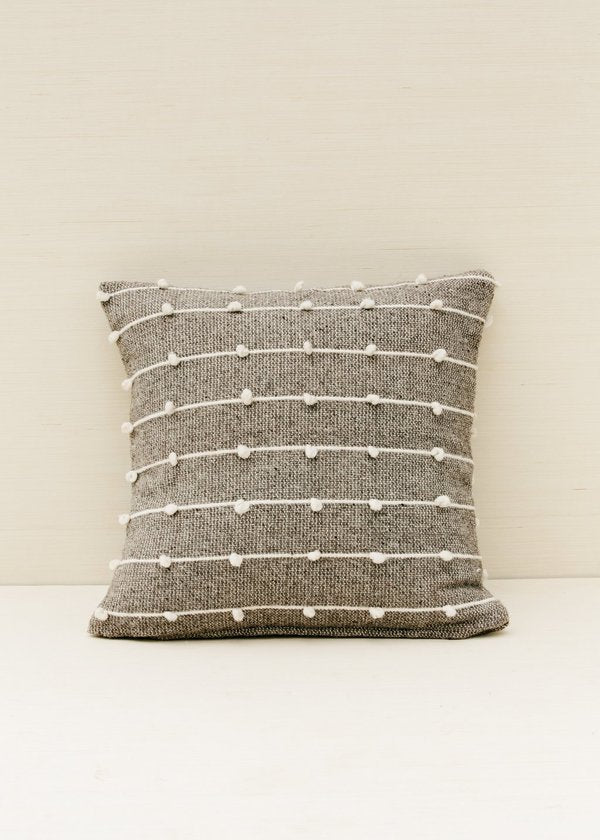 Loops Pillow in Grey