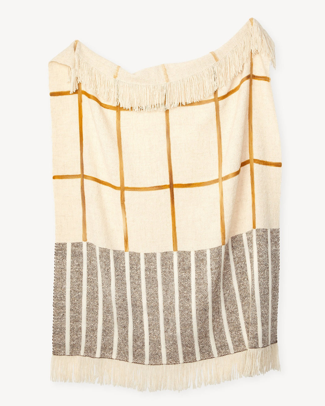 Split Grid Throw Turmeric
