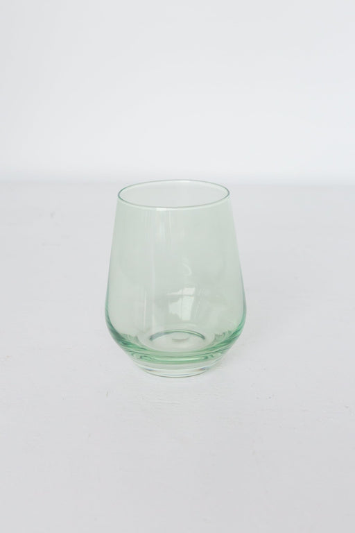 Stemless Wine Glasses in Mint Green
