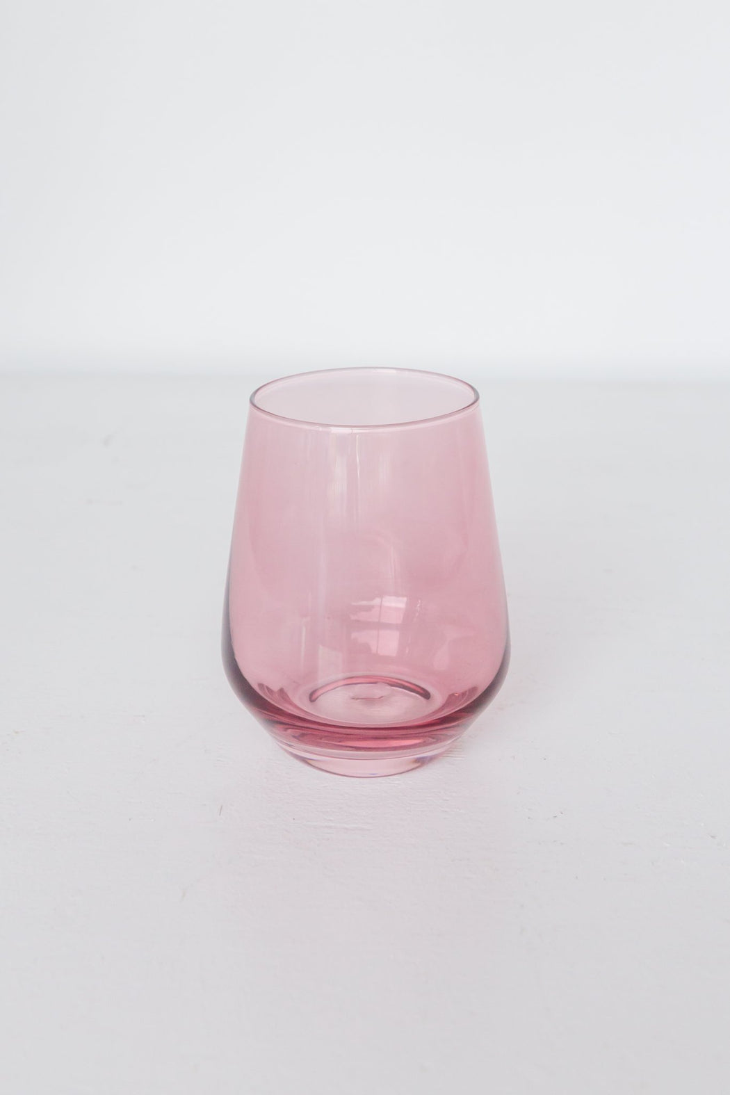 Stemless Wine Glasses in Rose