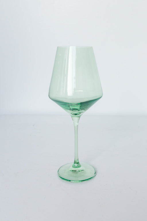 Wine Glasses in Mint Green