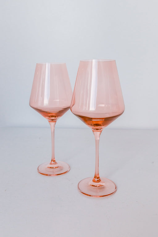 Wine Glasses in Blush Pink
