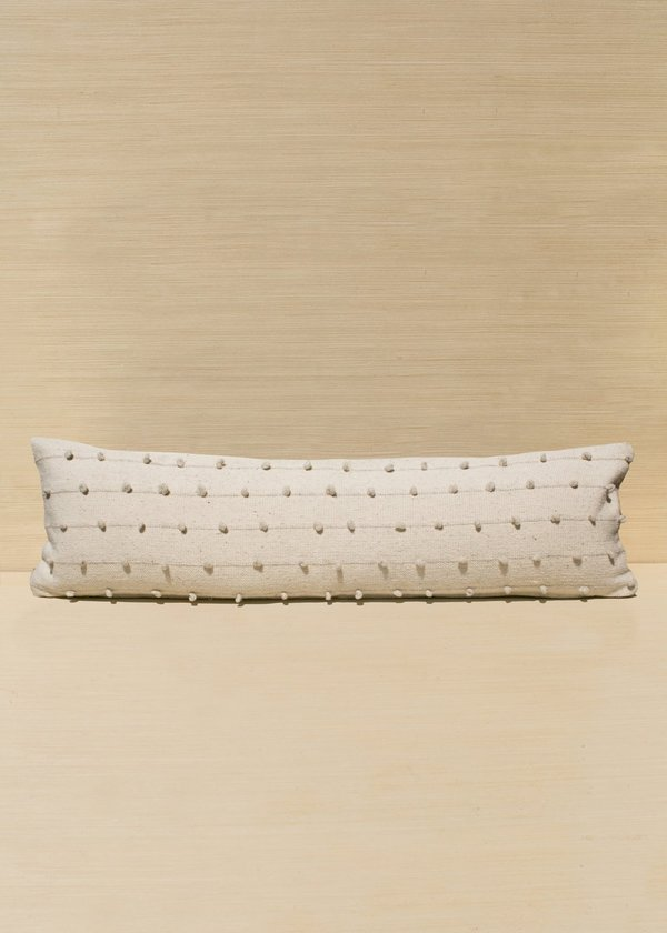 Loops Lumbar Pillow in Cream