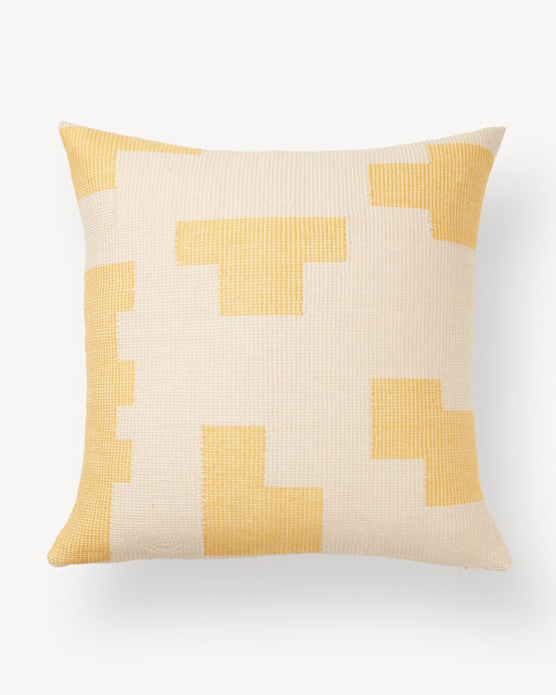 Puzzle Pillow in Lemon