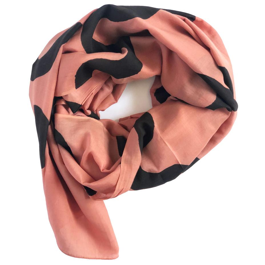 Peach Ripple Scarf
