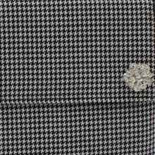 Load image into Gallery viewer, Houndstooth clutch bag - detachable diamante brooch detail