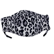 Load image into Gallery viewer, Animal Print Face Mask in Grey Leopard