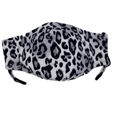 Animal Print Face Mask in Grey Leopard
