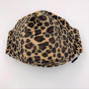 facemask in sand leopard print