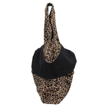 Load image into Gallery viewer, leopard print boho bag side view