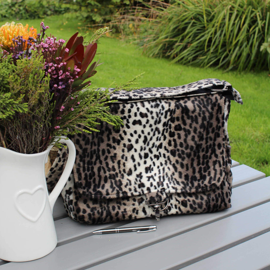 Animal print laptop bag