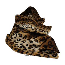 Load image into Gallery viewer, Brown Leopard Print, Snuggly, Animal Print, Faux Fur Scarf