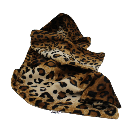 Brown Leopard Print, Snuggly, Animal Print, Faux Fur Scarf