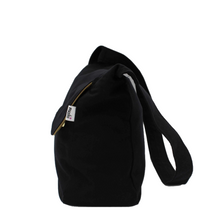 Load image into Gallery viewer, Black Messenger Bag - Cotton Canvas Crossbody Style