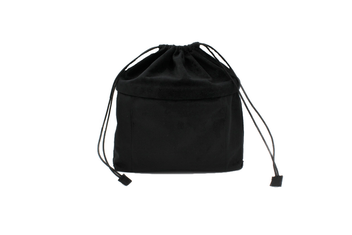 black drawstring bag liner