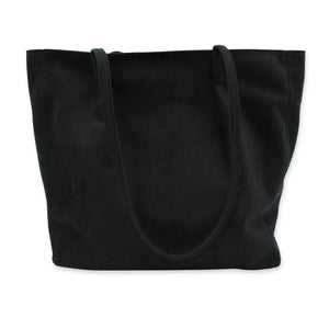 Black tote bag with zipped top