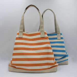Striped beach bags