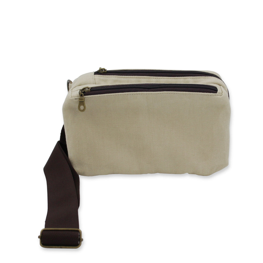 Boxy Crossbody Bag in Waxed Cotton