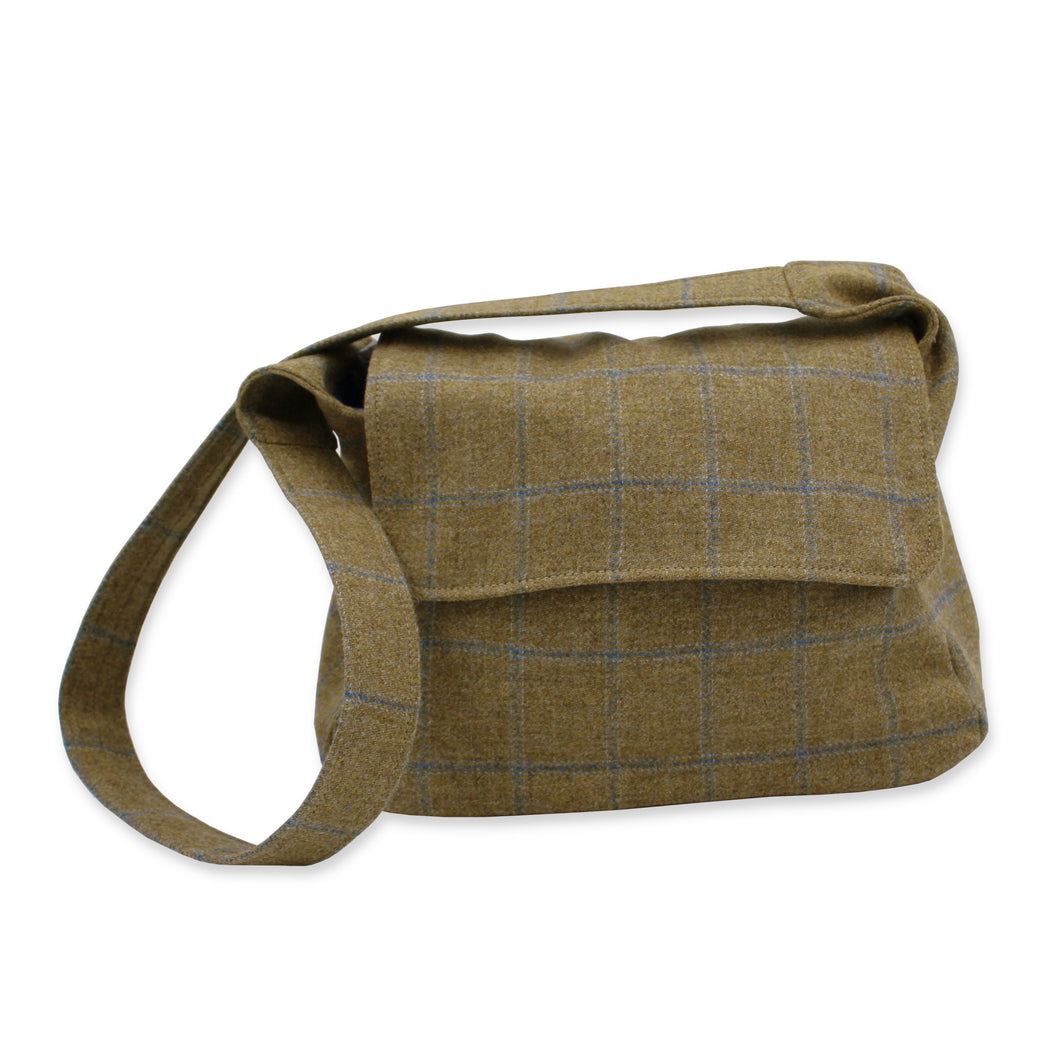 Tweed crossbody bag - tan British tweed