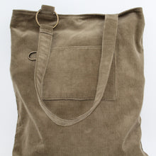 Load image into Gallery viewer, Brown Corduroy Large Slouch Bag or Shopping Bag, Unique, Handcrafted