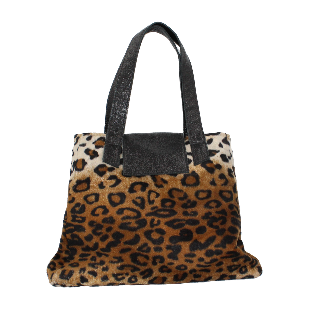 Leopard Print Shoulder Bag - Small Rose Weekend Bag